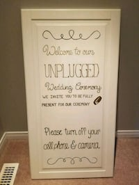 Unplugged ceremony sign Innisfil, L9S 0B5