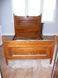 Birch bed and dreser set St. Louis