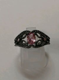 Pink Topaz ,Black Gold  Ring.  Sz.7 Mount Pleasant, 48858