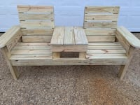 Brand New Pressure Treated Double Chair Bench seat with Table Hampton, 23664