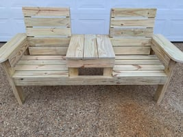 Brand New Pressure Treated Double Chair Bench seat with Table