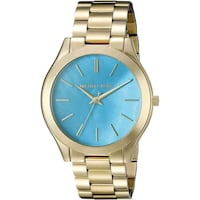 round gold-colored analog watch with link bracelet Las Vegas, 89128