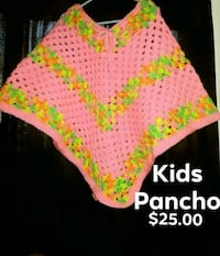 pink and green knitted textile Yuma, 85364