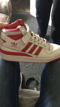 white and red adidas high-top sneaker Fresno, 93705