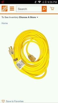 50 feet power cord $225.00 or b.o Turlock, 95380