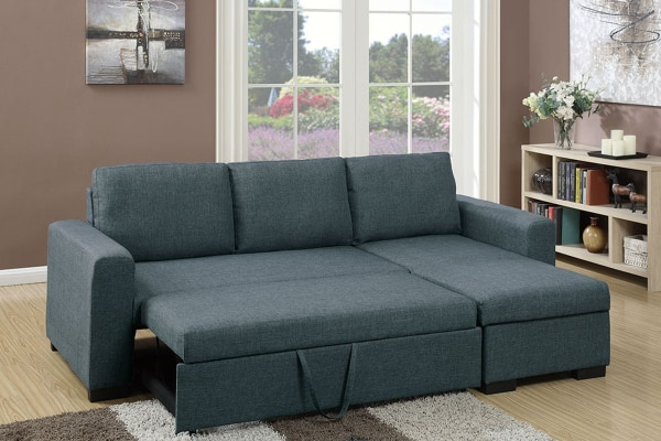 Convertible Sectional Sofa W/ Pull Out Bed