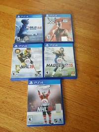 5 PS4 games years 14/15/16 Vancouver, V6G