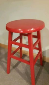 24 inch painted wooden stool Charter Township of Clinton, 48036