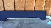 blue and white wooden curtain panels