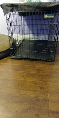 black Petmate collapsible pet cage