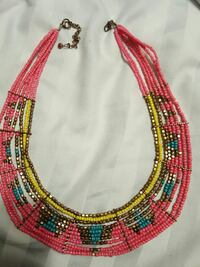 red, yellow, and blue beaded bib necklace Washington, 63090