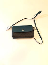 Black and gray leather crossbody bag Cold Spring, 41076