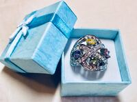 New Faithful Ring with Four Season Color Crystals , size 6 or 7 or 8 can be delivered to your address  Redwood City, 94065
