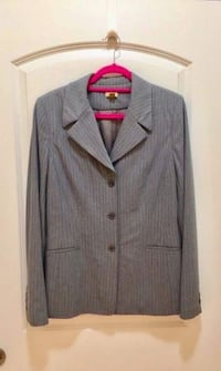 Women's Gray Pinstripe Suit  Herndon, 20171