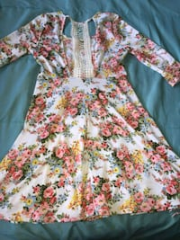 white, red, and green floral long sleeve dress Provo, 84604