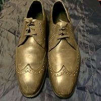 Kenneth Cole Mens Dress Shoes Gray Distressed Wing Tip Brogue Size 7.5 7 1/2 NEW YORK South San Francisco, 94080