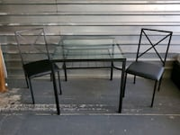 3 piece Metal and Glass Dinette Charlotte, 28262