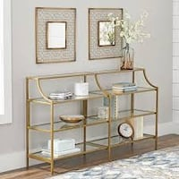 Better Homes & Gardens Nola Console Table, Gold Finish (New in Box) Fort Wayne