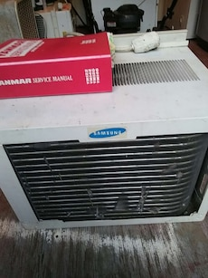 white Samsung air condenser