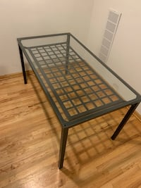 Glass & Metal Dining Table, Seats 6 Chicago, 60642