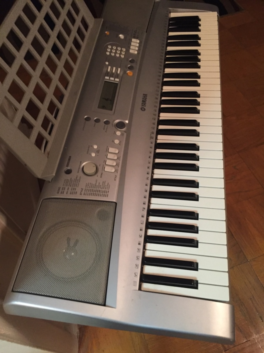 Used yamaha gray and white electronic keyboard in portsmouth for Yamaha policy