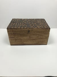 Hand carved decorative wood box Chicago, 60634
