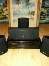 black home theater system