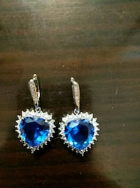 New, silver plated earrings, S925, $20 Vaughan