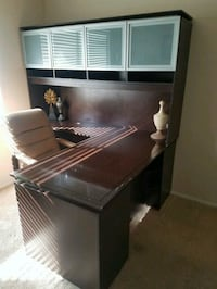 black wooden desk with hutch Las Vegas, 89147