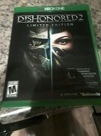 Dishonored 2 Xbox One game case