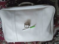 white and gray leather handbag London, N5Z 4Y3