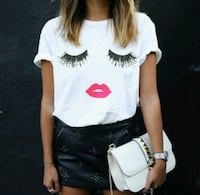 New in package thin white eyelash t-shirt Montreal, H8T