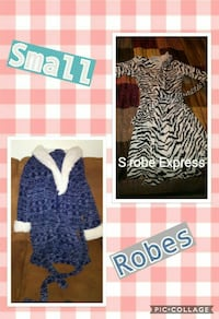 women's small robes collage