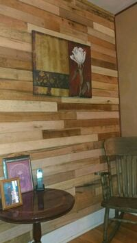 Pallet Walls 499! 64 SQ FT INSTALLED! WOOD~PAINT