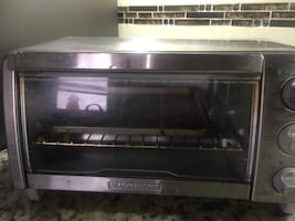 Black and Decker toaster oven stainless steel