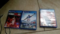 three Sony PS4 game cases New Port Richey, 34652