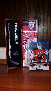 Hockey card and hockey stick