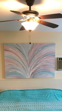 white and brown abstract painting Manalapan, 07726