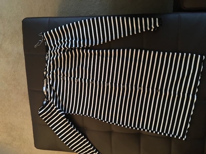 black and white striped long sleeve shirt 1