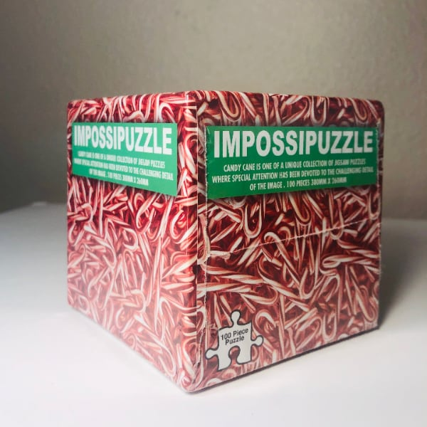 Brand New IMPOSSIPUZZLE Candy Cane Jigsaw Cube Puzzle