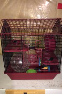 Hamster cage with toys