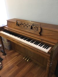 brown wooden upright piano with chair Mountain View, 94041