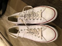 Converse white leather all stars sz 9 US Burnaby, V5G 3X4