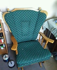 green and white polka dot armchair Lawrence, 66046
