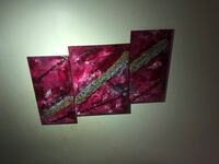 On canvas acrylic paint and metallic and Resin 16/20and 12$20 Markham, L3S 3Y9
