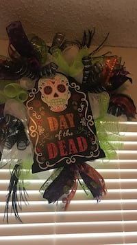 Day of the Dead wreath Corpus Christi, 78414