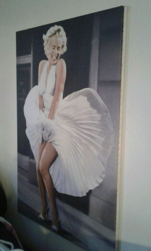 Famous marilyn munroe painting on canvas