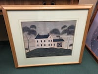 white and black house painting with brown wooden frame Longueuil, J3Y 3W5