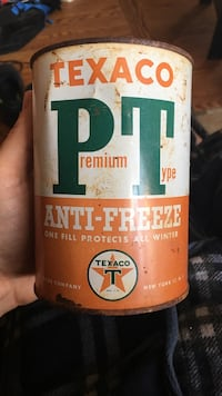 Texaco tin can of premium type anti-freeze. Not oil Niagara Falls, L2E 1Y6