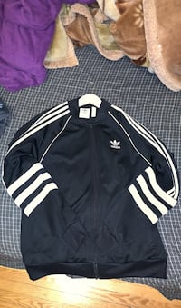 Adidas track jacket black and white  Toronto, M1R 3N1